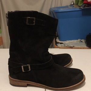 Charles David Women's Blk Suede Boots 8.5 Used